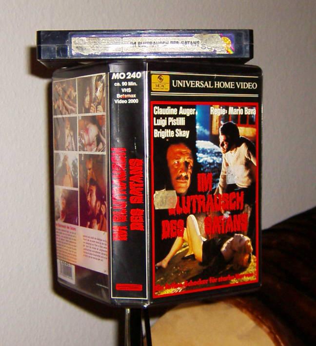 IM BLUTRAUSCH DES SATANS  ++  Mike Hunter VHS ++ Klassiker